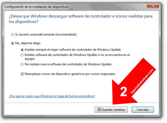 Actualizar controladores automáticamente Windows 7